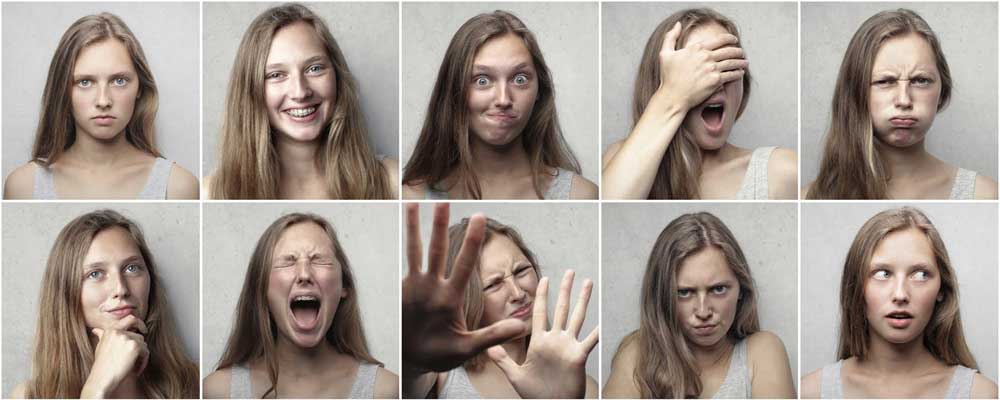 Collage of headshots of a womman.