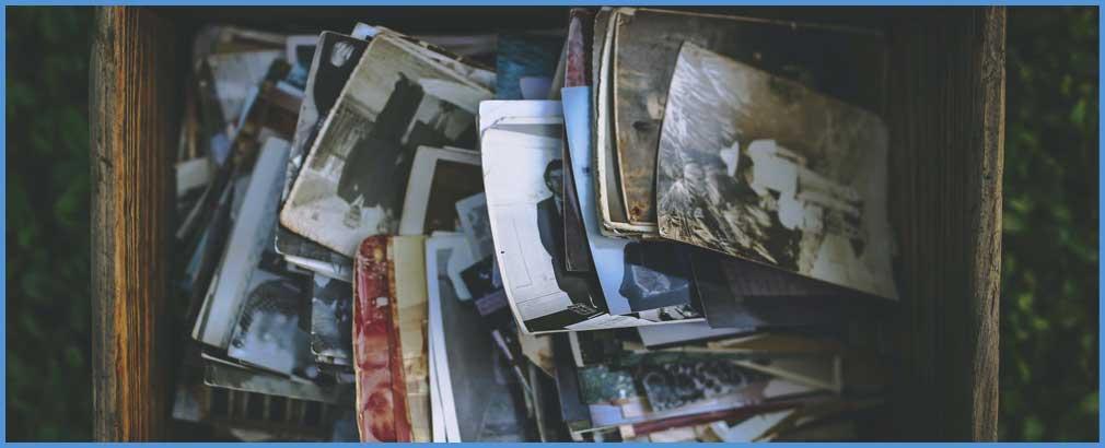 A box of photos.