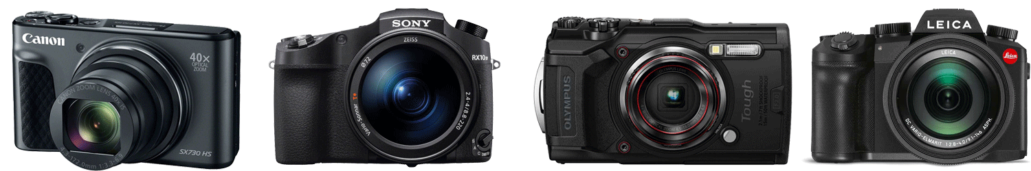 Compact cameras from Canon, Sony, Olympus and Leica