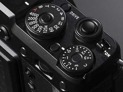 Top of the Fujifilm GFX 50R
