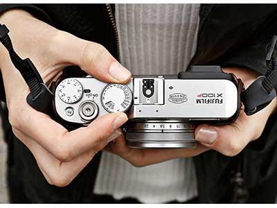Top view of the Fujifilm X100F