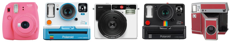 Instant cameras from Fujifilm, Polaroid & Leica