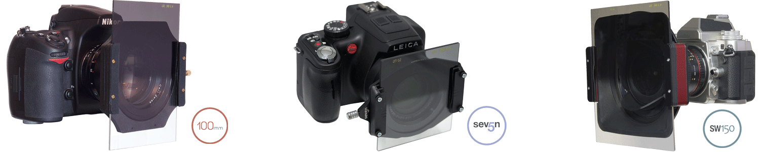 3 cameras using the LEE filter system