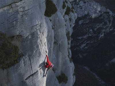Climber shot by the Nikon D500