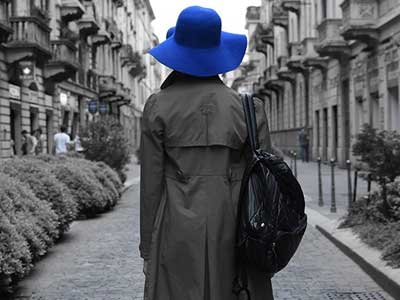 Blue hat woman shot by the Nikon D5600