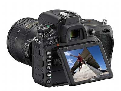 Nikon D750's flip screen