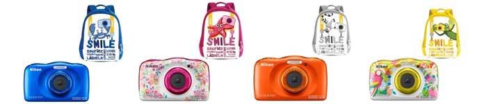 Range of Nikon W150 Cameras