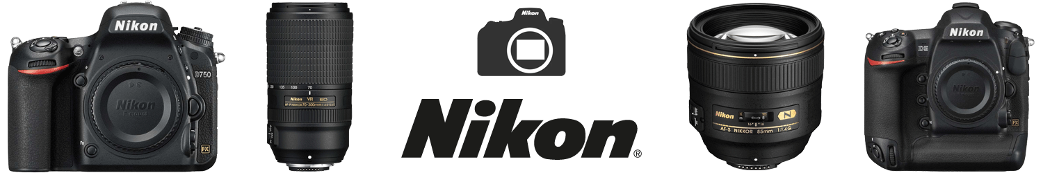 DSLR Cameras and lenses from Nikon