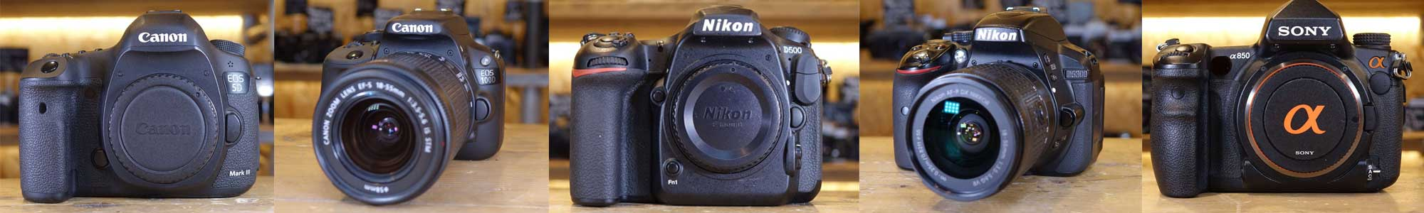 Used DSLR cameras from Harrison Cameras