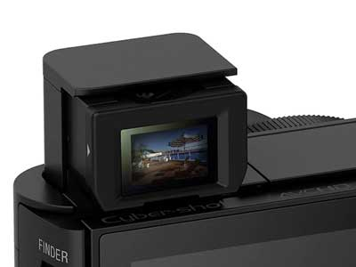 Sony HX90V viewfinder close-up