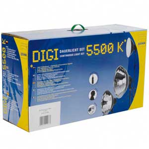 studio lighting kit in packaging